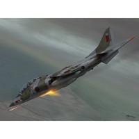 Harrier T Mk. 2-2A-TAV-8A учебно-тренировочный штурмовик вертикального взлета. SW72061 Sword 1:72