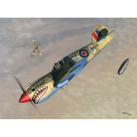 P-40K Kittyhawk III Short Tail 2 в 1 истребитель-бомбардировщик. SW72064 Sword 1:72