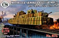 Бронепоезд МБВ-2 с танковыми пушками Л-11 - UMmt-675 UM Military Technics 1:72