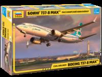 Б-737-8 Max пассажирский самолет - 7026 Звезда 1:144