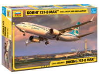 Боинг 737-8 Max пассажирский самолет - 7026 Звезда 1:144