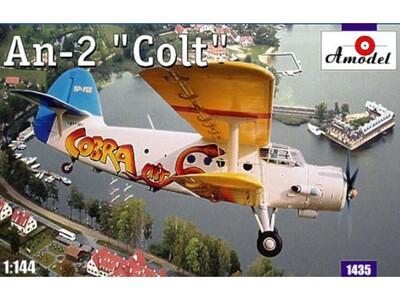 Ан-2 пассажирский АК Кобра - 1435 Amodel 1:144