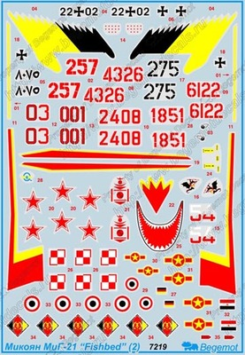 Микоян МиГ-21 часть 2. Масштаб 1/72