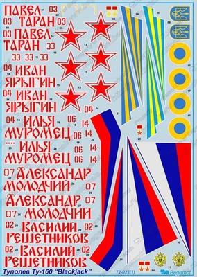 Туполев Ту-160. Масштаб 1/72