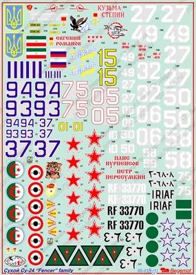 """Сухой Су-24 """"Fencer"""" family. Масштаб 1/48"""
