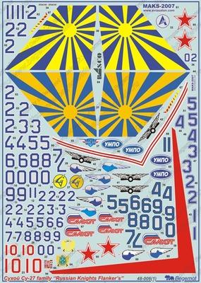 Сухой Су-27 Русские витязи - Масштаб 1/48