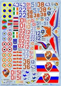 Cухой Су-27 часть 1 - Масштаб 1/48