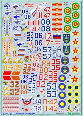 Cухой Су-27 часть 2 - Масштаб 1/48