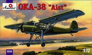 ОКА-38 Аист самолет связи - 72211 Amodel 1:72