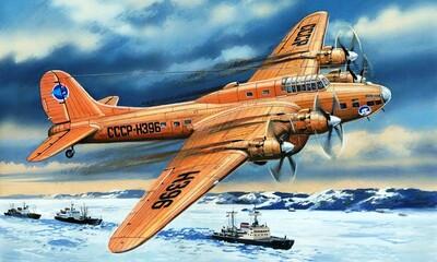 Пе-8 Полярной авиации - 72155 Amodel 1:72