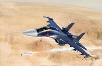 Су-34 истребитель-бомбардировщик - 01652 масштаб 1:72