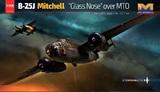 B-25J MitchellGlass Nose over MTO бомбардировщик - 01E024 HK Models 1:32