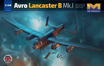 Avro Lancaster B Mk.I бомбардировщик - 01F005 HK Models 1:48