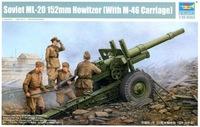 Trumpeter 02324 Сборная модель МЛ-20 152-мм гаубица-пушка, СССР 1938. Масштаб 1:35