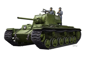 КВ-1 1942г. Тяжелый танк с экипажем - 09597 Trumpeter 1:35