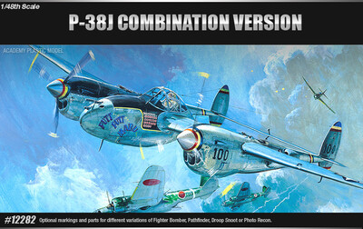 P-38J, Droopsnoot, P-38L, F-5E истребитель - 12282 Academy 1:48