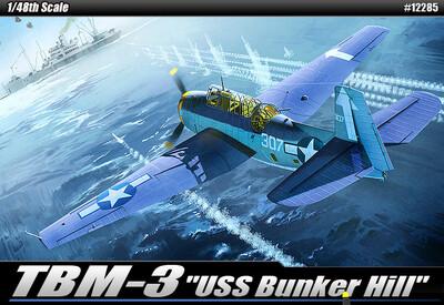 TBM-3 Bunker Hill самолет-торпедоносец - 12285 Academy 1:48