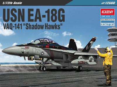 EA-18G VAQ-141 Shadow Hawks самолет РЭБ - 12560 Academy 1:72
