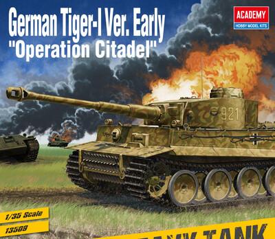 Tiger-I (Тигр) Early Operation Citadel тяжелый танк - 13509 Academy 1:35