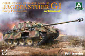 Jagdpanther G1 (Ягдпантера) Sd.Kfz.173 w/Zimmerit САУ - 2125 Takom 1:35