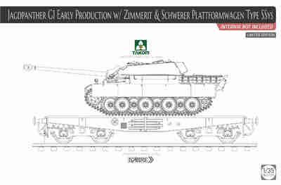 Jagdpanther G1 (Ягдпантера) w/Zimmerit & Schwerer Plattformwagen Type SSys - 2125X Takom 1:35