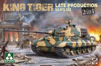 Sd.Kfz.182 King Tiger Late 2 in 1 тяжелый танк - 2130 Takom 1:35