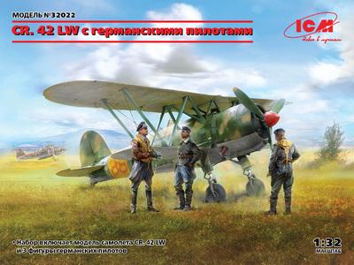 CR.42 (Falco) штурмовик с германскими пилотами - 32022 ICM 1:32