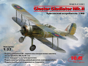 Gloster Gladiator Mk.II истребитель-биплан - 32041 ICM 1:32