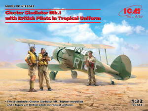 Gloster Gladiator Mk.I с британскими пилотами - 32043 ICM 1:32
