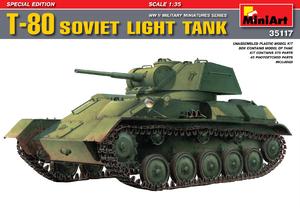 Т-80 легкий танк (спецвыпуск). 35117 MiniArt 1:35