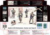 Современные американские пехотинцы. MB35154 Master Box 1:35