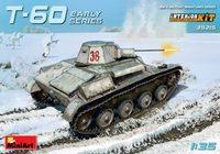 Т-60 легкий танк ранних серий с интерьером - 35215 MiniArt 1:35