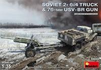 Советский грузовик с 76-мм пушкой УСВ-БР - 35272 MiniArt 1:35