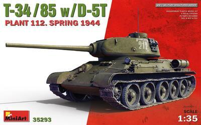 Т-34-85 завода №112 с пушкой Д-5Т весна 1944 - 35293 MiniArt 1:35