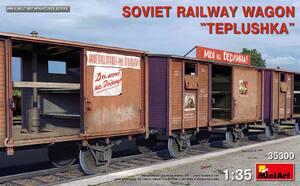 Советский железнодорожный Вагон-теплушка - 35300 MiniArt 1:35
