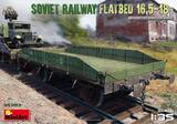 Железнодорожная платформа 16-18т - 35303 MiniArt 1:35