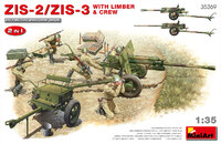 ЗиС-2 и ЗиС-3 пушки с передком и расчетом - 35369 MiniArt 1:35
