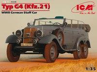 Typ G4 Kfz.21 штабной автомобиль. 35538 ICM 1:35