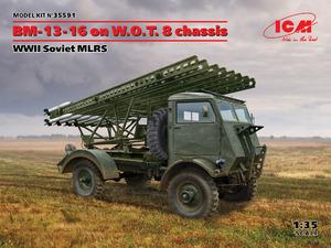 БМ-13-16 на шасси W.O.T. 8 РСЗО - 35591 ICM 1:35