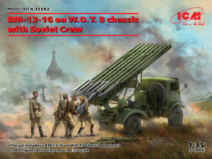 БМ-13-16 на шасси W.O.T. 8 c cоветским расчетом - 35592 ICM 1:35