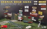 Немецкие дорожные знаки времен войны (Восточный фронт Набор 1) - 35602 MiniArt 1:35