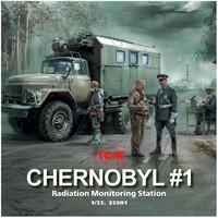 Чернобыль-1. Пост радиационного контроля - 35901 ICM 1:35
