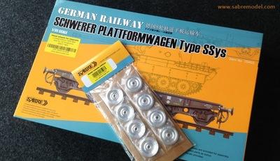 Тяжелая 4-осная ж/д платформа Type SSys  - 35A02 Sabre 1:35