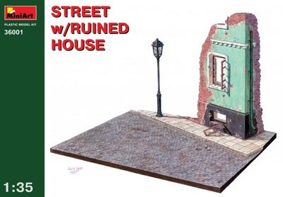 Улица с разрушенным домом - 36001 MiniArt 1:35