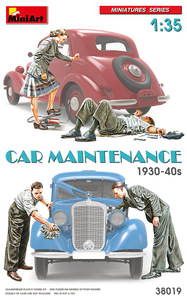 Car Maintenance 1930-40 фигуры авторемонт - 38019 MiniArt 1:35