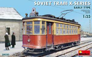 Советский трамвай Х серии раннего типа - 38020 MiniArt 1:35