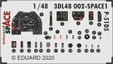 P-51D-5 SpAce 3D-декаль приборы + ремни - 3DL-48002 Eduard 1:48