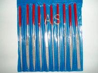 Набор надфилей с ручками алмазные 10 шт., чехол