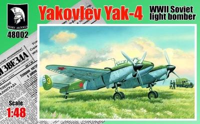 Як-4 легкий бомбардировщик/разведчик - 48002 Mars Models 1:48