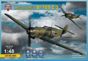 Messerschmitt Bf.109C-3 (Ме-109) истребитель - 4805 Modelsvit 1:48